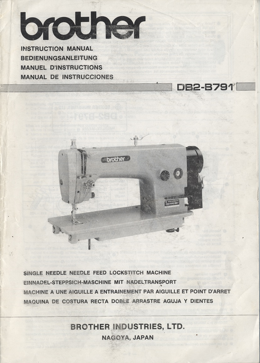 needlefeed company brother db2 b791 b7910 instruction manual rh needlefeed com brother sewing machine lx2500 instruction manual brother sewing machine user manual pdf