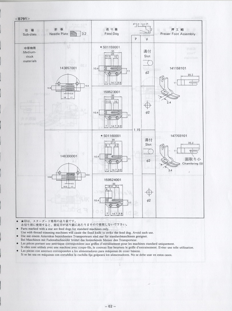 Diagram Parts List For Model 925d Brotherparts Sewingmachineparts